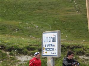 Umbrailpass Grenze Italien Schweiz